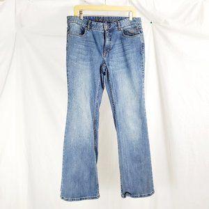 Harley Davidson Womens Denim Jeans Sz 12 Straight
